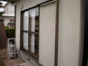 工事前:単板ガラスのサッシ